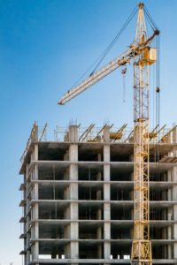 54223422 – building under construction and crane.