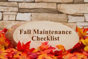 HVAC Fall Maintenance Checklist